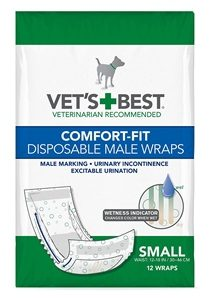 Vet's Best Comfort Fit Disposable Male Dog Diapers