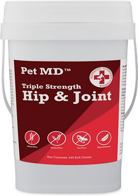 Pet MD Triple Strength Hip and Joint Hypoallergenic Dog Supplement
