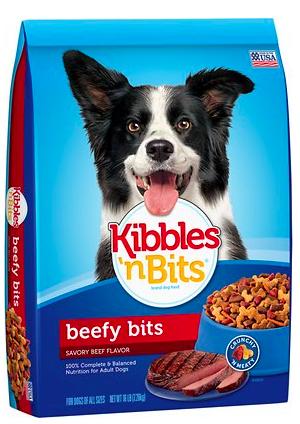 Kibbles n Bits Beefy Bits Savory Beef Flavor Dry Dog Food